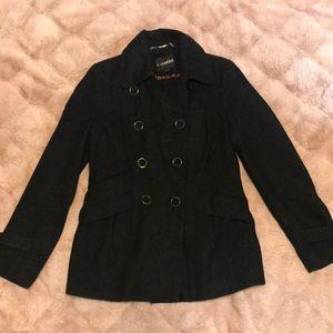 Express women's peacoat wool jacket
